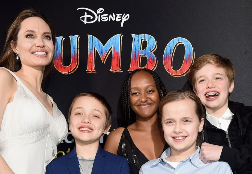 Angelina Jolie Beams at 'Dumbo' Premiere With 4 of Her Kids: Pics