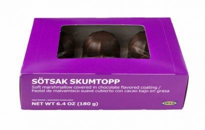 Caution recall in the case of IKEA, This Confection may contain allergens
