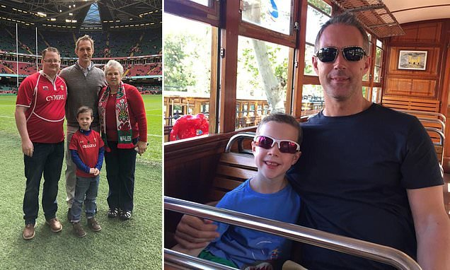 Father, 45, 'died for six minutes' while playing football with his son