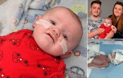 Baby born weighing just 1lb 9oz defies the odds to survive