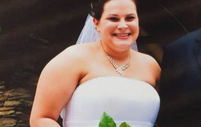 Obese bride who walked down the aisle at 22st sheds HALF her body weight