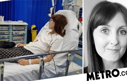 Woman has thigh fat injected into her mouth because her whole body is hardening