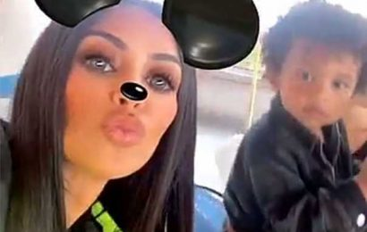 Kim Kardashian Took Her Older Kids to Disneyland to Help with 'Transition' into a Family of Four