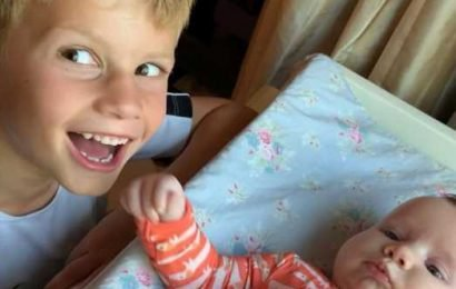 Jessica Simpson's Daughter Maxwell and Son Ace Have Adorable Sibling Moments with Baby Birdie
