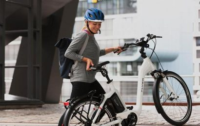 Effective Workout with the E-Bike will burn 300 calories, in spite of the electric motor.