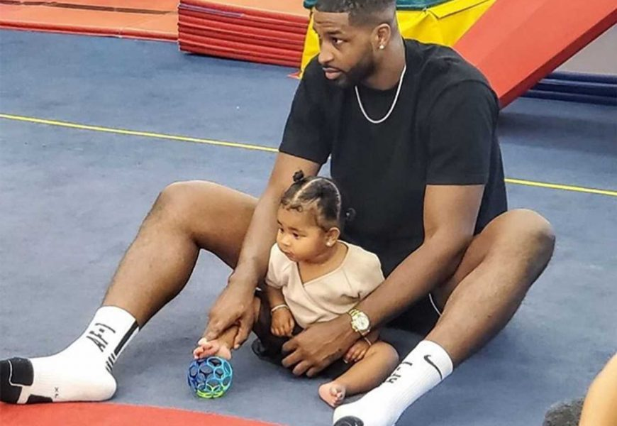Tristan Thompson Shares Sweet Photo with Daughter True at Baby Class and Declares They Are 'Twins'