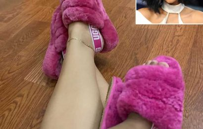Cardi B Poses with Baby Daughter Kulture in Matching Pink Fluffy UGG Slippers: 'Me & Mine'