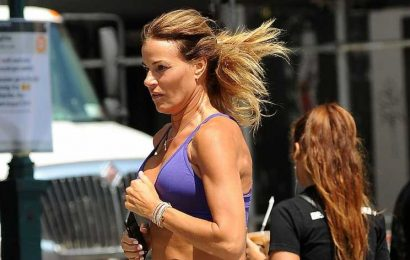 Kelly Bensimon Jogs Through NYC Heat in Tiny Shorts and Sports Bra