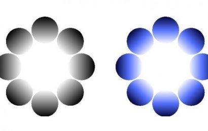 Pupillary response to glare illusions of different colors