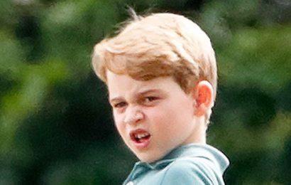 Prince George's Grumpiest Faces