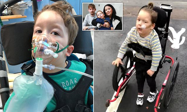 Boy, 4, told he'd never walk takes first steps after private surgery