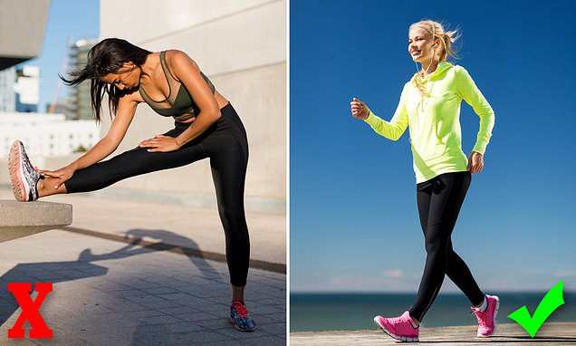 Stretching will NOT prevent running injuries – but a warm-up walk may