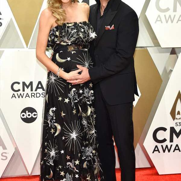 Party of Three! Frankie Ballard and Pregnant Wife Christina Arrive at the 2019 CMA Awards
