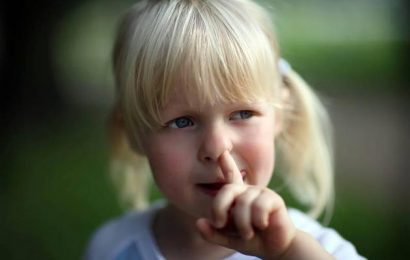 In the nose: that's Why it is so unhealthy, don't pick your nose