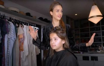 Chop Chop! Jessica Alba Trims Her Daughters' Hair at Home: 'I Cut Myself a Few Times'