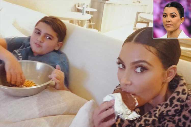 Kim Kardashian Treats Nephew Mason to Junk Food Despite Kourtney's Dedication to Organic Snacks