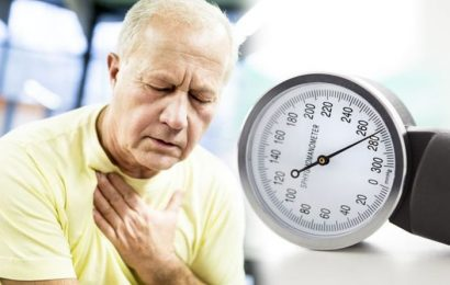 High blood pressure: Feeling a particular sensation in your chest could signal the conditi