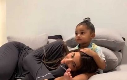 Kylie Jenner Does Adorable Cuddle Challenge with Daughter Stormi: 'Don't Be Afraid Mommy'