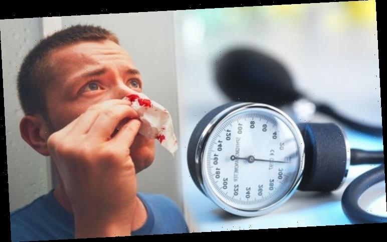 High blood pressure: Nosebleeds are the lesser-known sign indicating your risk
