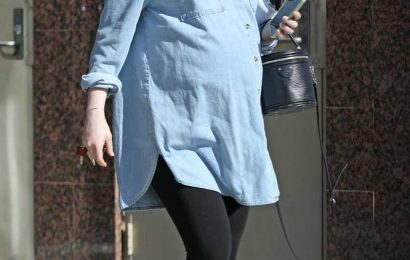 Pregnant Emma Stone Shows Off Her Baby Bump While Running Errands in L.A.