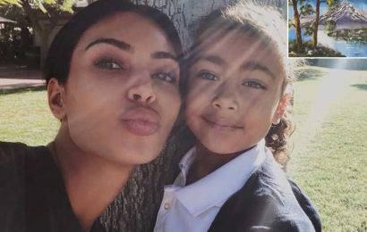 Kim Kardashian Calls Her Daughter's Oil Painting a 'North West Classic'
