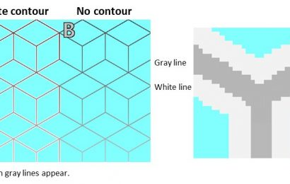 White contours induce red hue