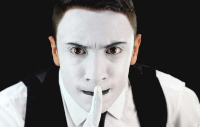 Mimes help us 'see' objects that don't exist
